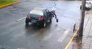 Mulher é atropelada na faixa de segurança em Vacaria