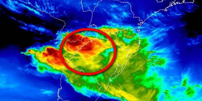 Previsão de tempestade no rs