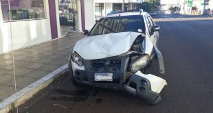 Acidente de trânsito na Bento Gonçalves