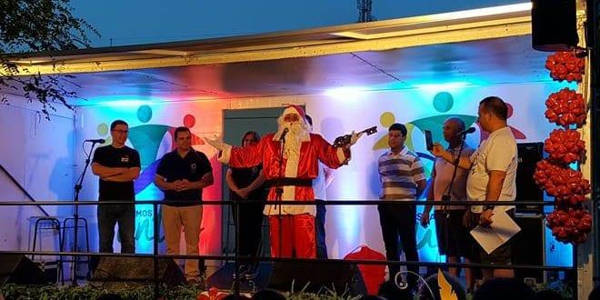 Chegada do Papai Noel em Santiago