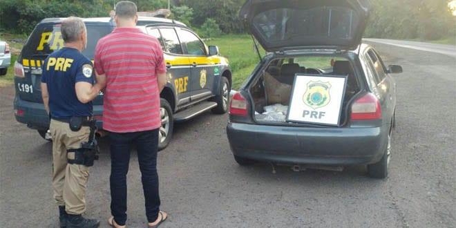 paraguaio preso com 150 kg de maconha em Cruz Alta