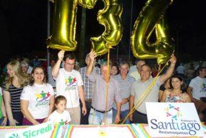 Aniversário de 134 anos de Santiago rs