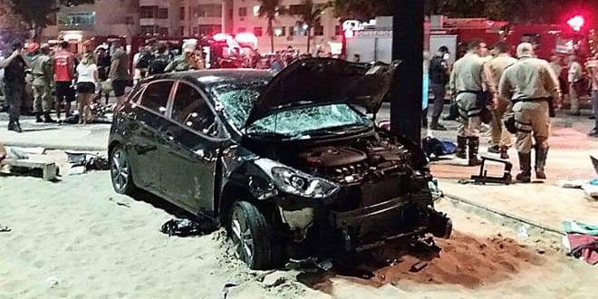 Motorista com carteira suspensa atropela 17 pessoas em Copacabana