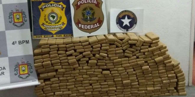 Uruguaio é preso com 231 KG de maconha em Pelotas